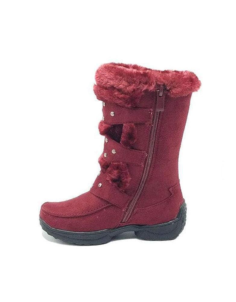 UHAVITCOM Kid Fashion Mid High Faux Fur Square Toe Boots EMILY-8K