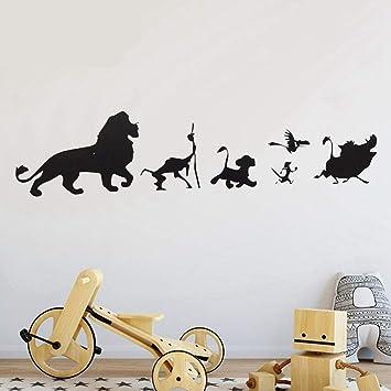 Dibujos animados Lion King Simba Tatuajes de pared Ventana de ...