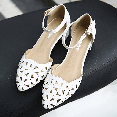Pointe tête Femmes En Pour Mot Gras Shoeshaoge High heel Dans Eu34 Attacher L'en Filles Les Sandales Exposés Avec Respirante 0nqwTIqP