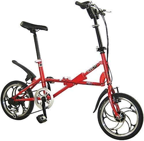 GJNVBDZSF Bicicleta Plegable Bicicleta Plegable 16 Pulgadas V ...