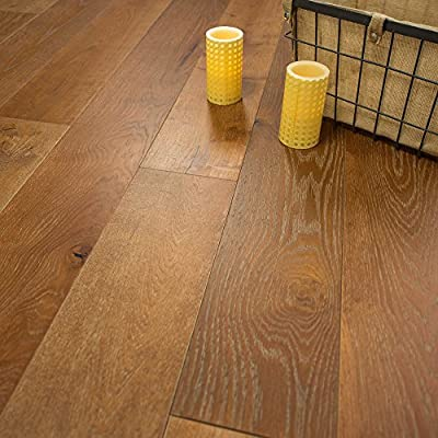 """Wide Plank 7 1/2"""" x 5/8"""" European French Oak (Oregon) Prefinished Engineered Wood Flooring Sample at Discount Prices by Hurst Hardwoods"""