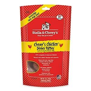 Stella & Chewy's Freeze-Dried Raw Chewy's Chicken Dinner Patties Grain-Free Dog Food, 15 oz bag