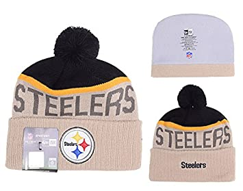 401619bcf0f Image Unavailable. Image not available for. Colour  Pittsburgh Steelers NFL  Sideline Bobble Knitted Hat