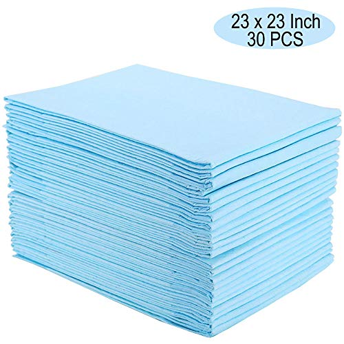 Homkare Disposable Bed Pads,30 Counts Disposable Underpads, Disposable Incontinence Bed Pads, Disposable Mattress Pads for Baby, Kids and Pet, 23