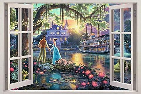 Fantasy Princess Castle 3D Window View Decal WALL STICKER Decor Art Mural H69, Huge (Fantasy Mural)