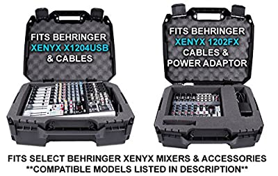 Casematix 17 Inch Audio Mixer Carrying Case Compatible with Behringer Xenyx X1204usb , 1204usb , QX1204usb , Q1204usb , 1202fx , 1202 , 802 , Q802usb , QX1202usb , QX1002usb , 1002B , Q1202usb from CASEMATIX