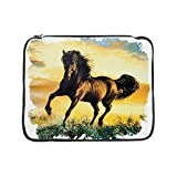 15 Inch Laptop Sleeve Horse at Sunset