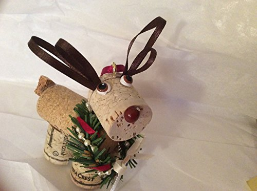 (Wine Cork Reindeer Holiday Christmas)