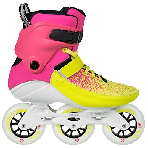 07 Womens In Line Skates - Powerslide Swell Multicolor Flair 100 Inline Fitness Speed Skates (EU 40 / US 07)