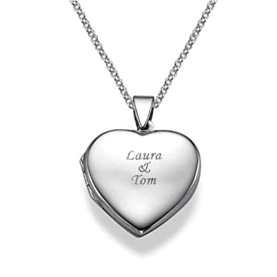 silver il gold necklace lockets listing personalized engraved locket