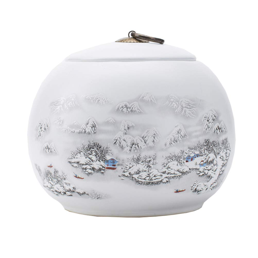 A Dbtxwd Eramic Cremation Urn For Human or Pet Ashes, Burial Urns Fits a Small Amount of Cremated Remains Ashes of Adults & Pets