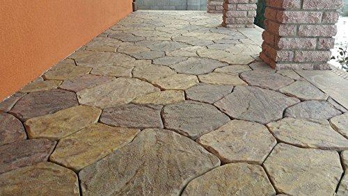 Sold 6 pcs PLASTIC MOLDS FLAGSTONE CASTING CONCRETE PAVING GARDEN PATHS STONE PATIO (Patio Stone Molds)