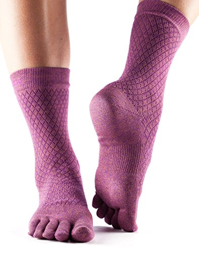 Zehensocken Crew Casual Full Toe Yoga Socken - Fishnet Luscious Pink