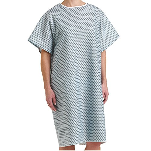 Bella Kline Double Tie Back,Hospital Patient Unisex Gown, 6Pk -