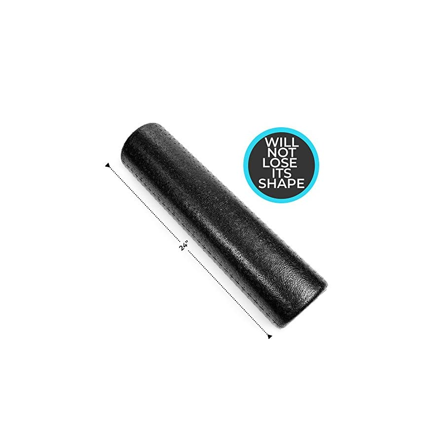 High Density Muscle Foam Rollers by Day 1 Fitness 4 Sizes (12,18,24,36) & 7 Colors Sports Massage Rollers for Stretching, Physical Therapy, Deep Tissue and Myofascial Release Ideal for Exercise and Pain Relief