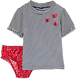 Just One You Made by Carters Toddler Girls Rash Guard   Bottoms Set - Americana Butterfly  18M