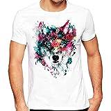 Hot Sale!Men's Tee,Neartime Men Cotton Tops Flag Print Blouse Short Sleeve T-Shirt (XL, White2)