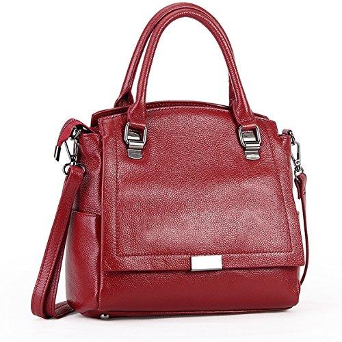 portés en bandoulière Sac 66680 Sac Bordeaux Sac épaule DISSA portés main main à fashion Sac LF femme cuir A1wxaY