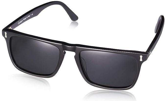 f6531798594 Carfia Polarised Sunglasses for Men UV400 Protection Driving Glasses (Black  Frame Grey Lens)  Amazon.co.uk  Clothing