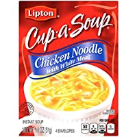 12-Pack Lipton Cup-A-Soup, Chicken Noodle with White Meat 1.8 oz