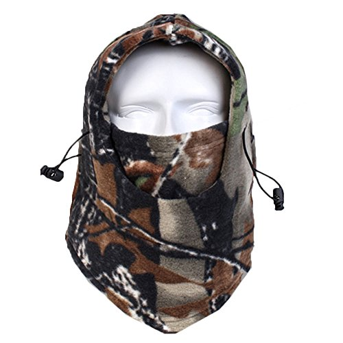 Maoko Camo Fleece Winter Balaclava Outdoor Sports Windproof Cycling Warmer Full Face Mask Beanies RZ18
