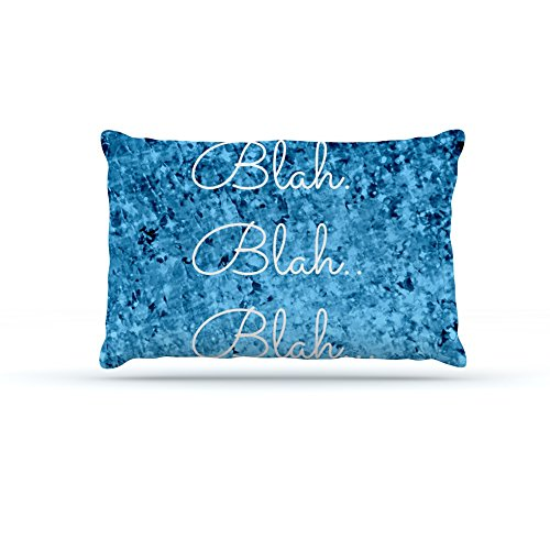 Large 30\ Kess InHouse Ebi Emporium Blah Blah Blah  bluee Glitter Dog Bed, 30 by 40-Inch