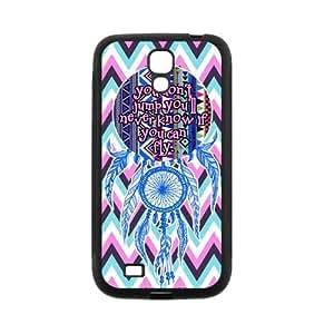Chevron Aztec Tribal Dream Catcher Inspirational Quote Rubber Cover Case for SamSung Galaxy S4