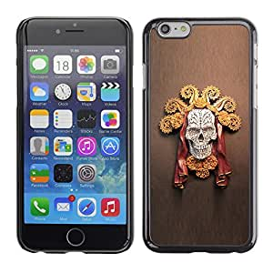 Shell-Star Arte & diseño plástico duro Fundas Cover Cubre Hard Case Cover para Apple iPhone 6 Plus(5.5 inches)( Gold Chief Sun Skull Death Red Brown )