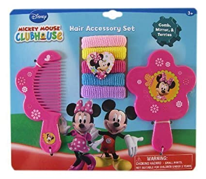 Mickey Mouse Clubhouse 7pc Minnie Mouse Hair Accessory Set Minnie Vanity Set Minnie Hair Set Holiday Gifts