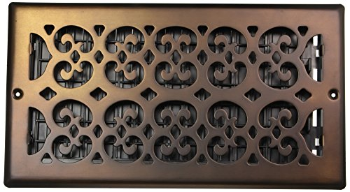 - Decor Grates SP612W-RB Scroll Plated Register, 6-Inch by 12-Inch, Rubbed Bronze