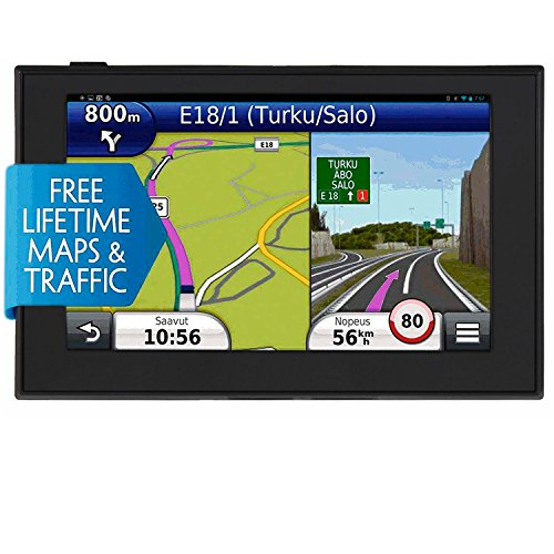 Car GPS Navigation, 5 Inch Touch Screen Turn- by-Turn Voice Reminding GPS Navigator for Vehicle 128MB 8GB System Lifetime Free Map by VRC-Mart