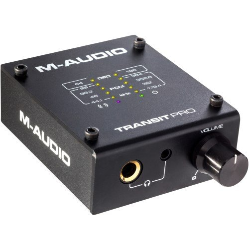 M-Audio Transit Pro | Audiophile-Grade USB DAC with 1/4'' & 1/8'' Headphone Outputs (32-bit/384 kHz)