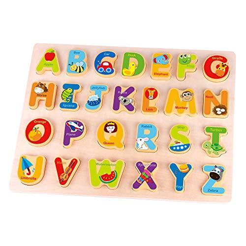 Fat Brain Toys Alphabet Adventure Wooden Puzzle