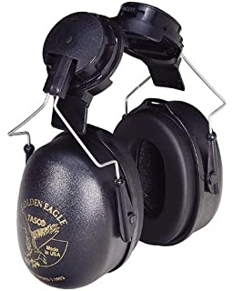 Tasco 2951 Golden Eagle Cap Mounted Earmuffs, NRR=26, Black