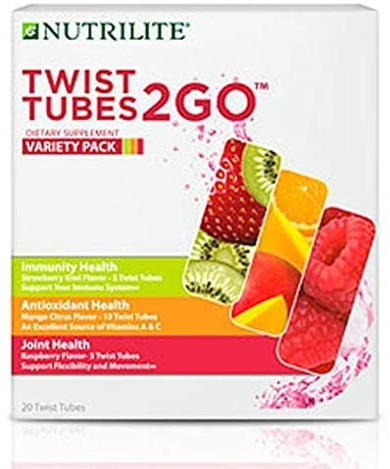 Nutrilite Twist Tubes 2go Variedad Pack Antioxidantes Inmune Y Salud De Las Articulaciones 20 Tubos Health Personal Care
