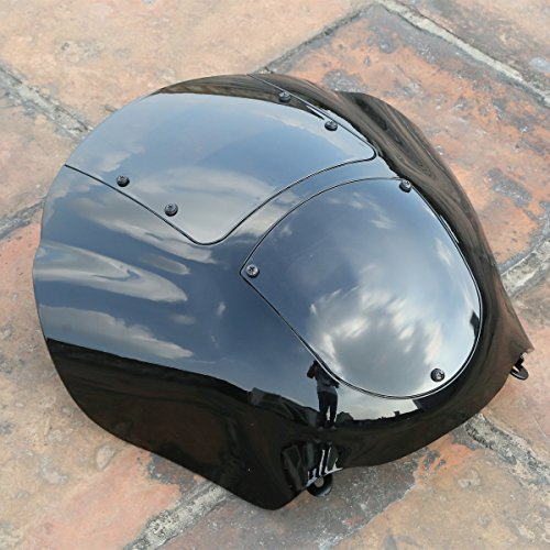 XMT-MOTO Black Quarter Fairing & Smoke Windshield For 1988-later XL,1986-1994 FXR and 1995-2005 Dyna ()