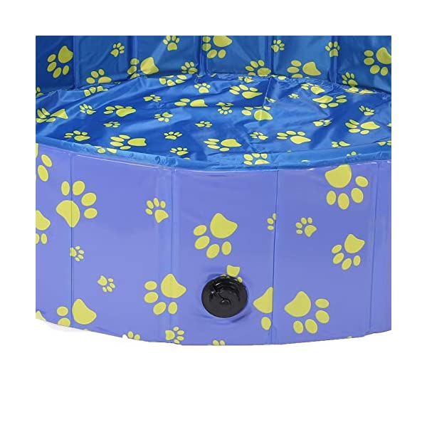 Pro Goleem Foldable Dog Pool Collapsible Pet Swimming Bathing Tub Kiddie Pools for Dogs Cats and Kids 5