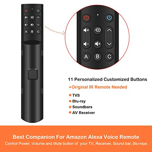 2020 New Version, Alexa Voice Remote NOT Included SofaBaton F2 Universal Remote Attachment for  Fire TV Fire Stick Streaming Player with 11 Customized Buttons