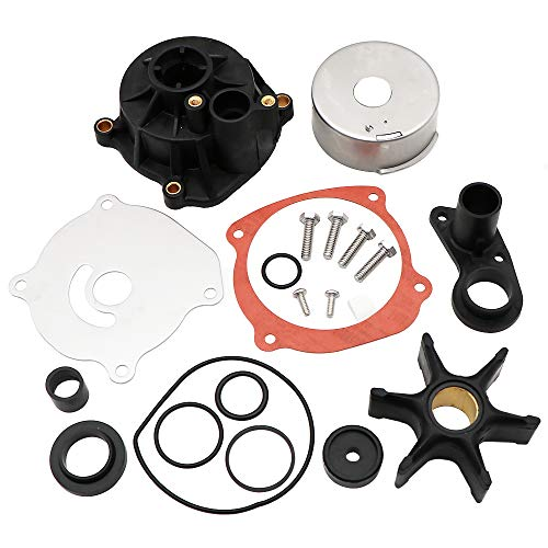 Outboard Motor Johnson Evinrude Parts - KIPA Water Pump Repair Kit Replacement with Housing for Johnson Evinrude V4 V6 V8 85-300HP Outboard Motor Parts 5001594 5001595 Sierra Marine 18-3392 390768 391637 392750 393082 395060 395062 435447