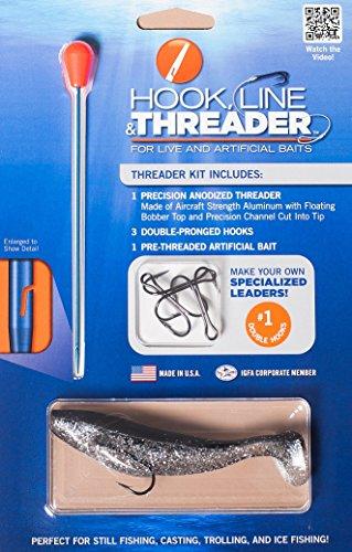 (Complete Hook, Line & Threader Kits. Choose from 7 Different Hook Size Kits (#1 Hook Kit))