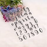 YULEKITO Elegant Lowercase Letters and 0-9 Numbers