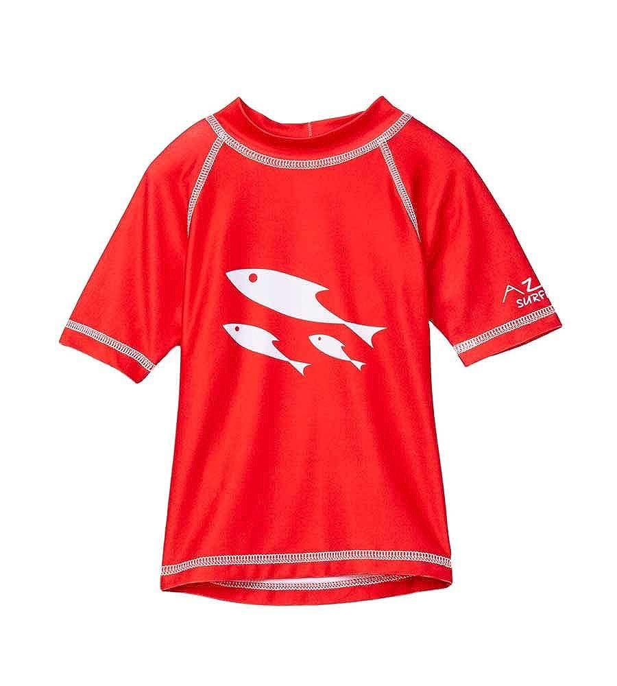 Azul RED School of Fish Rashguard