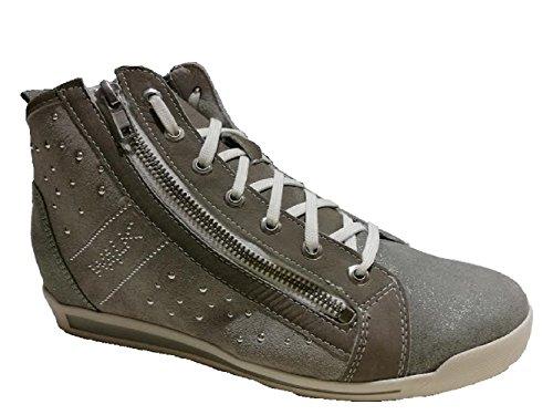 MELLUSO - Zapatillas para mujer Gris gris 37 Gris