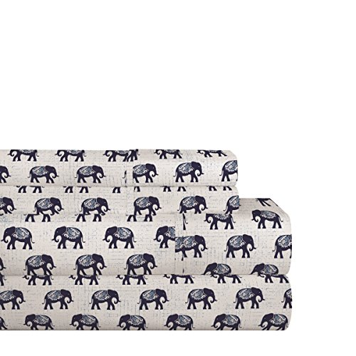 Pointehaven 200Elephssqn Sheet Set, Queen, Elephant