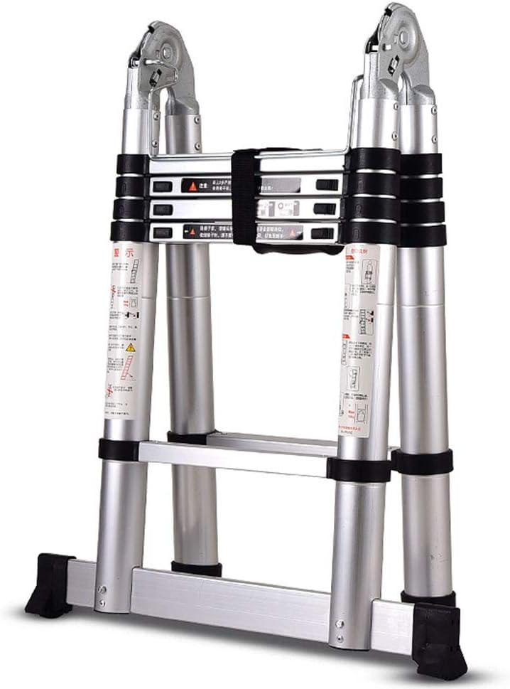 LJSJT Escalera Telescópica Marco de aleación de Aluminio Múltiples Formas Escalera de ingenieria Escalera de 5 escalones 3.2 m de Altura Peso del rodamiento 150kg: Amazon.es: Hogar