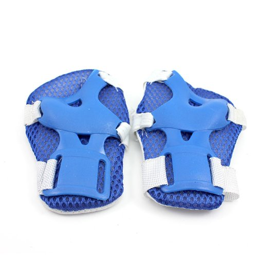 blue HuntGold New Baby Kid Roller Skating Skateboard Knee Elbow Wrist Protector Guard Pad Gear