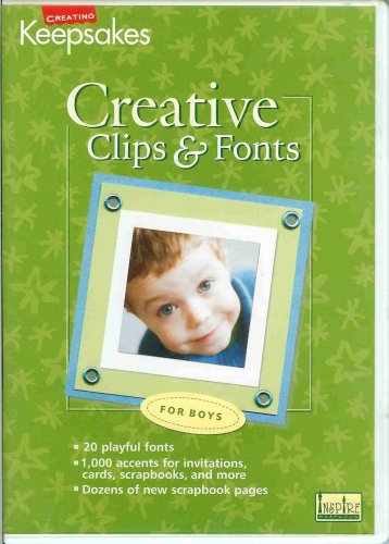 Creative Clips & Fonts for Boys