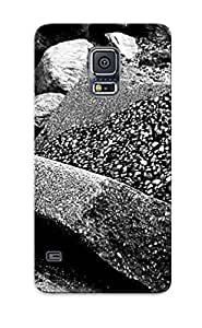 Ellent Design Bw Beach Stones Case Cover For Galaxy S5 For New Year's Day's Gift