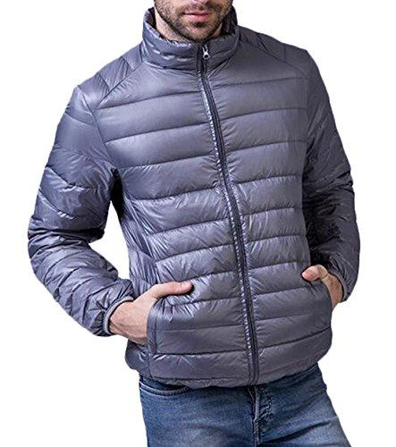 EKU Men's Winter Outwear Sport Packable Down Puffer Jacket US S Gray
