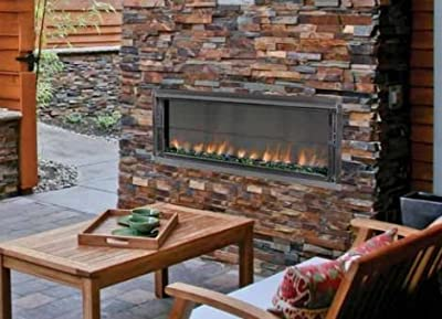 """43"""" Propane Gas Electronic Ignition Linear Outdoor Vent-Free Fireplace"""